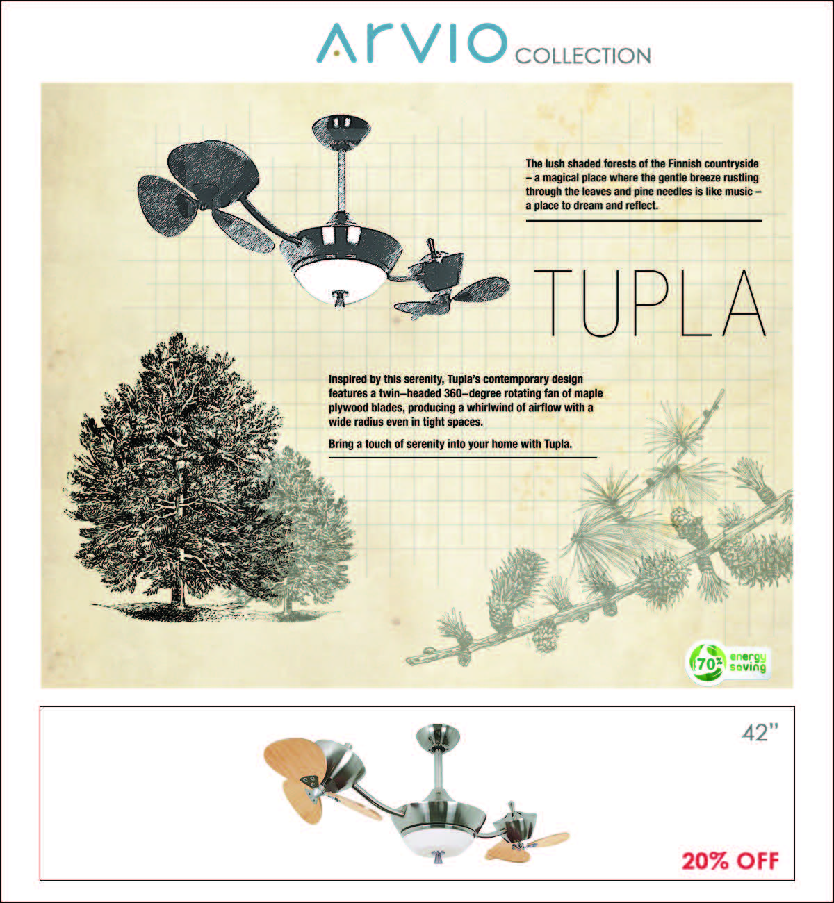 ARVIO Ceiling Fan Collection