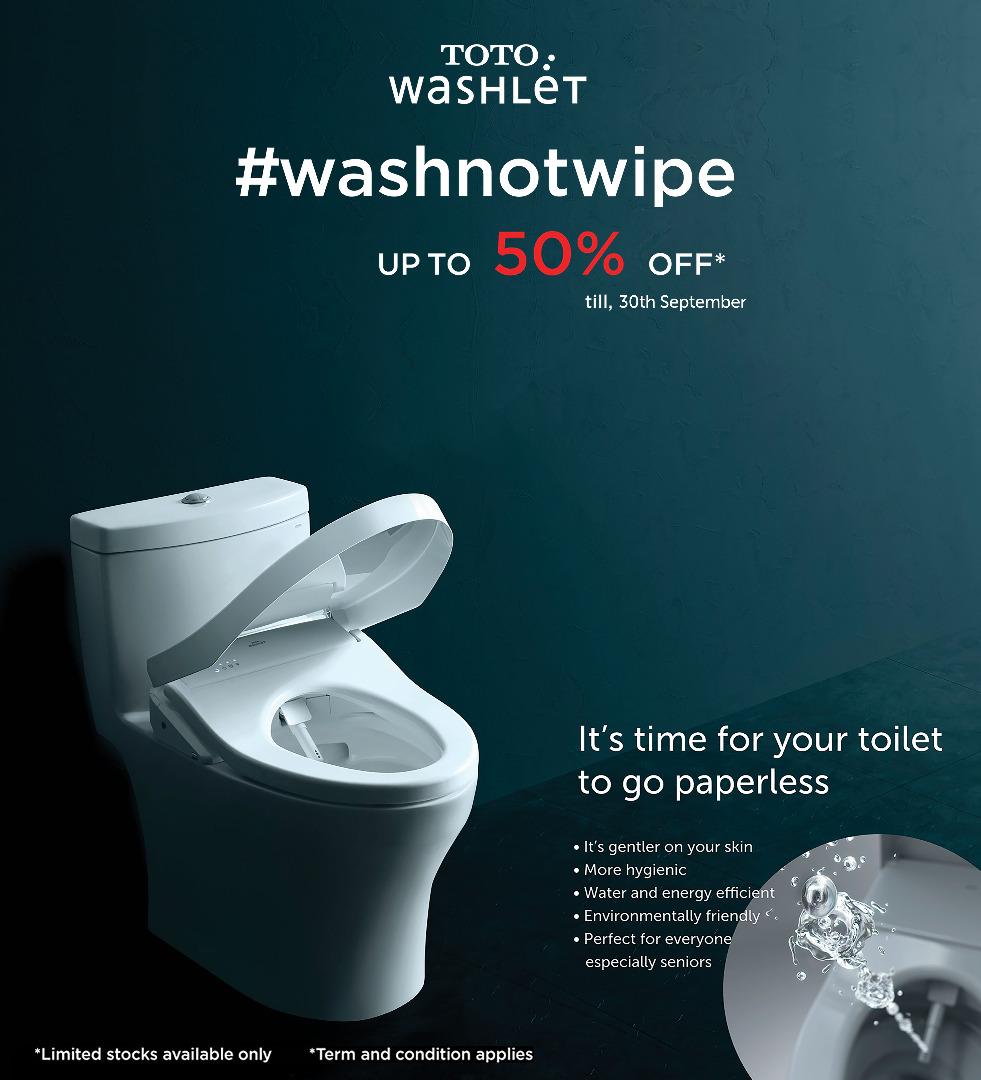 TOTO washlet 50% OFF September