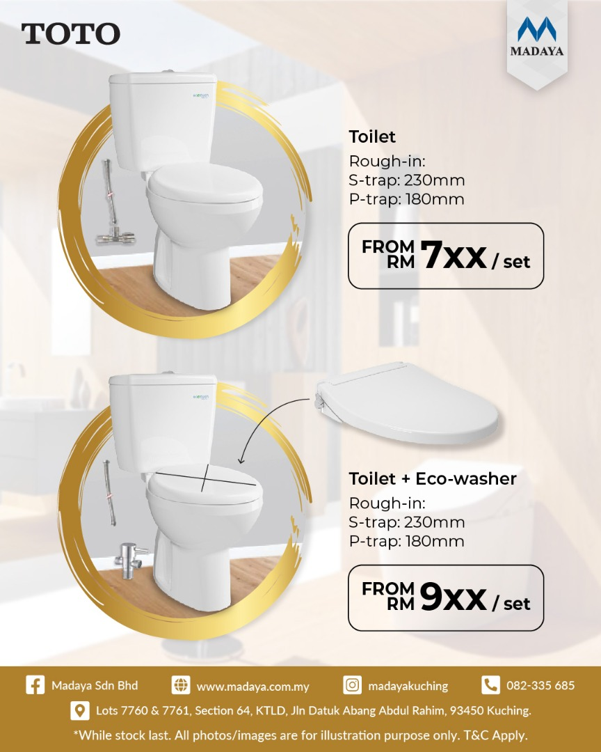 TOTO toilet and combo sales