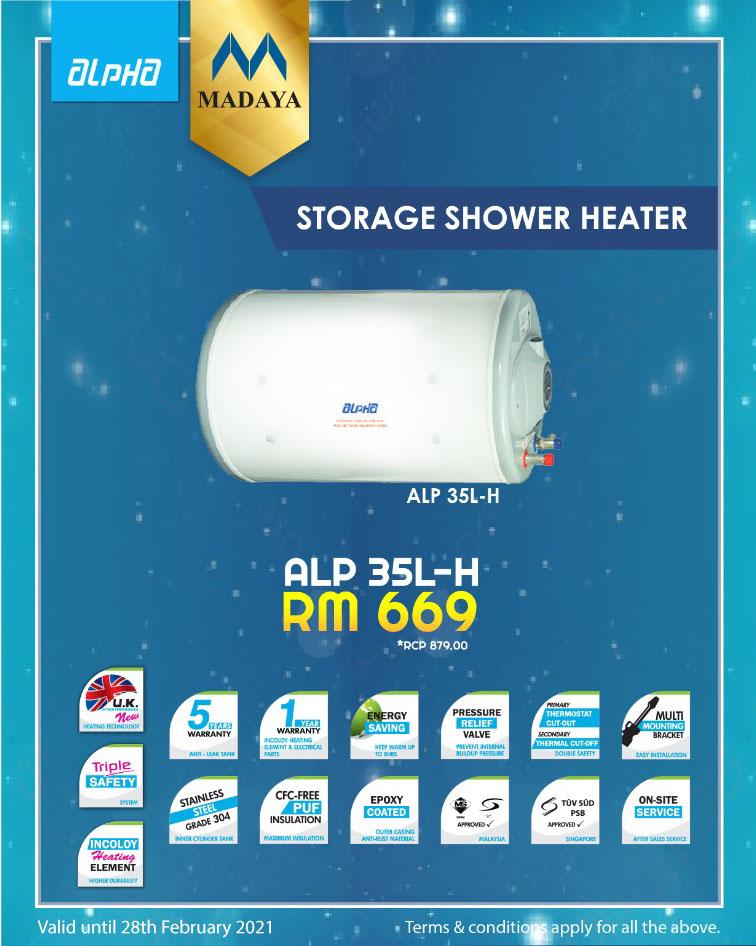 Alpha Water Storage Heater