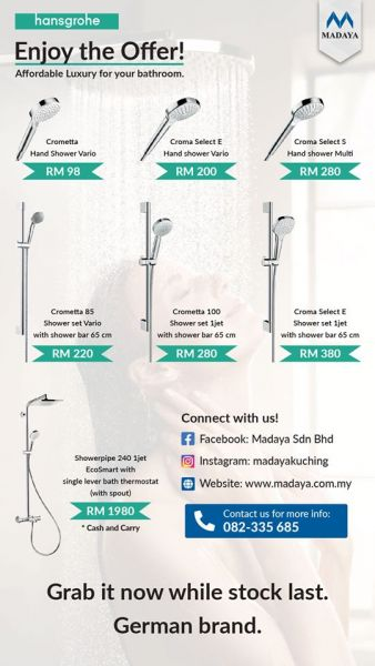 Hansgrohe shower collection offer!