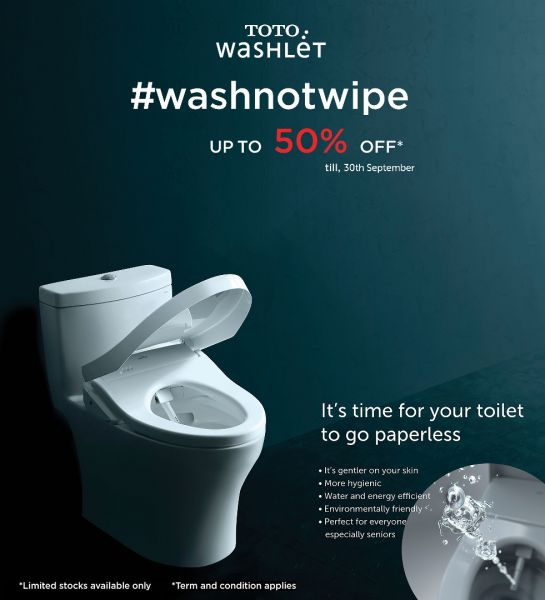 TOTO washlet 50% OFF September
