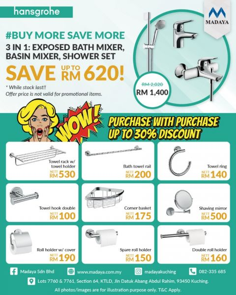 BUY MORE SAVE MORE on hansgrohe shower collection