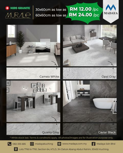 Niro Granite Murale Series tiles now available at Madaya❗