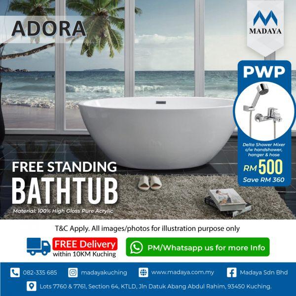 Buy Adora Bathtub & Save RM 360 to get Delta Shower Mixer C/w Handshower, Hanger & Hose